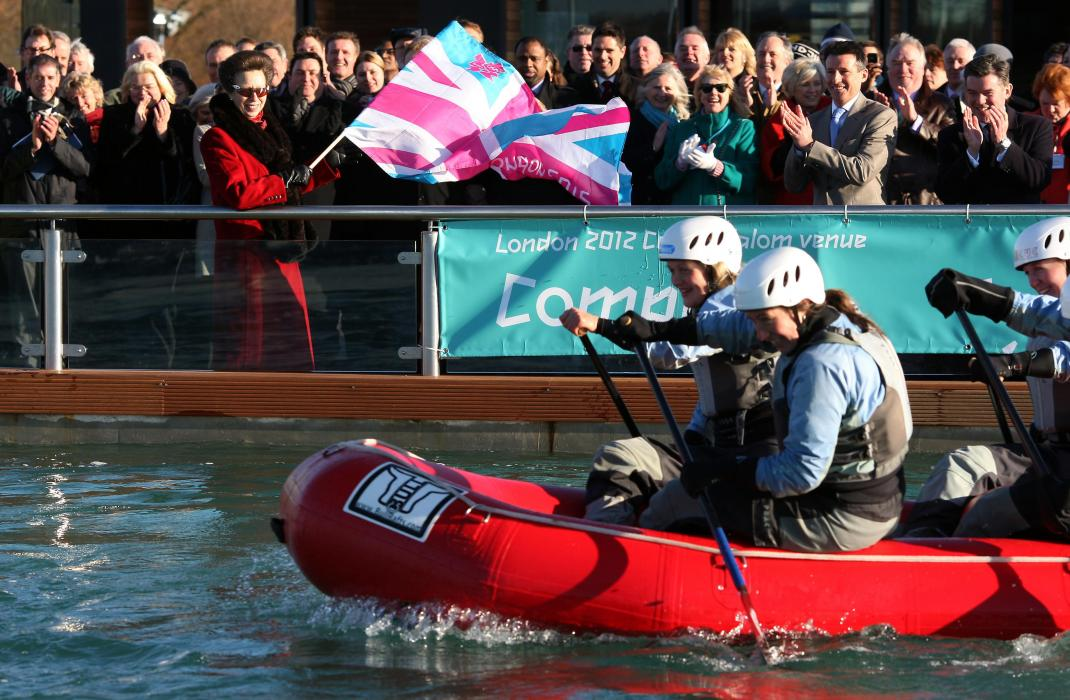 The Princess Royal opens Lee Valley White Water Centre, London 2012 Olympics