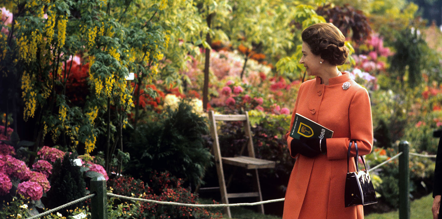 The Queen The Chelsea Flower Show 1971