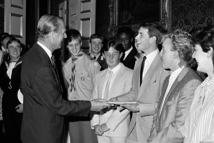 The Duke of Edinburgh presents The Earl of Wessex with his Gold Award