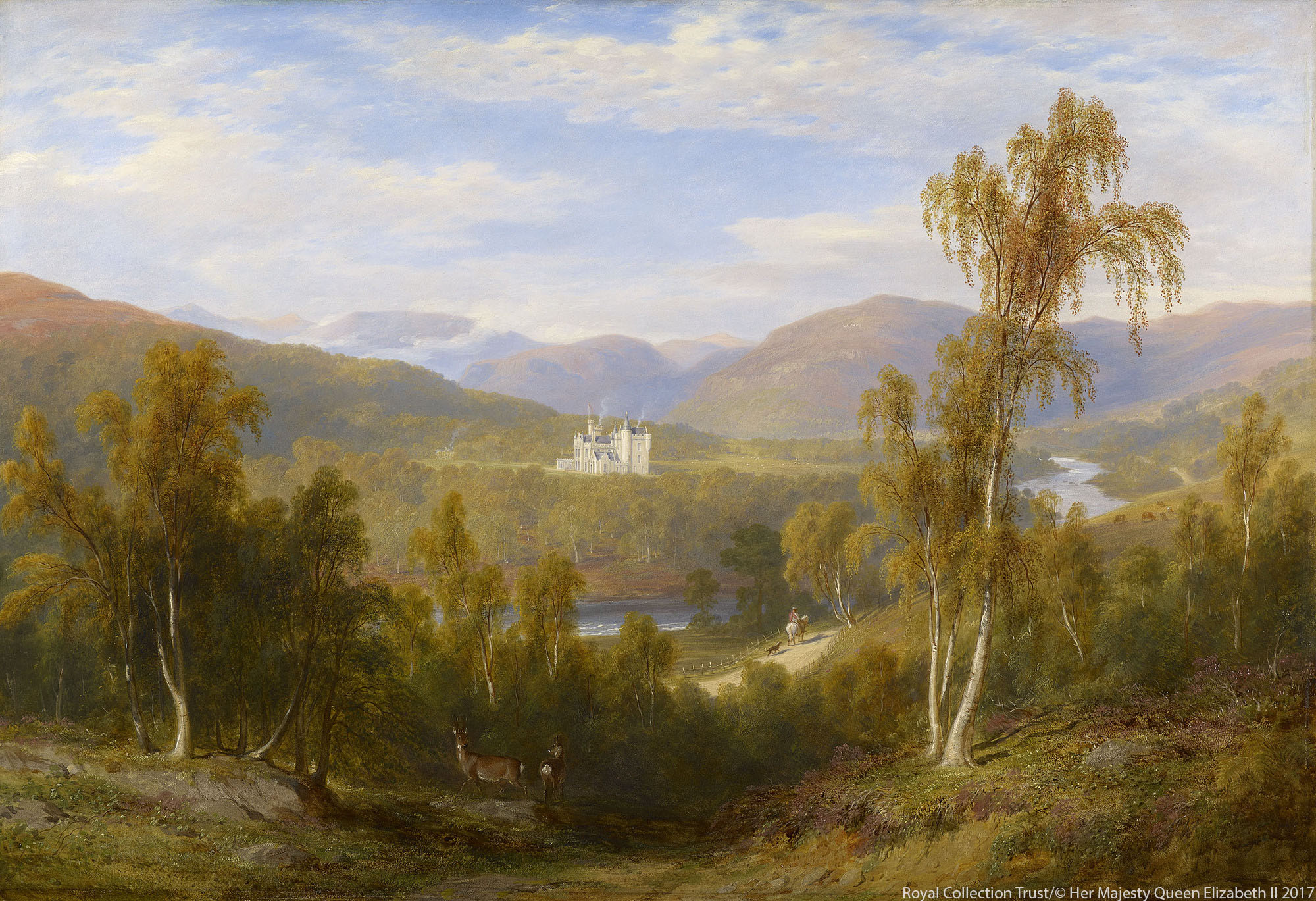 A watercolour of old Balmoral Castle by James Giles