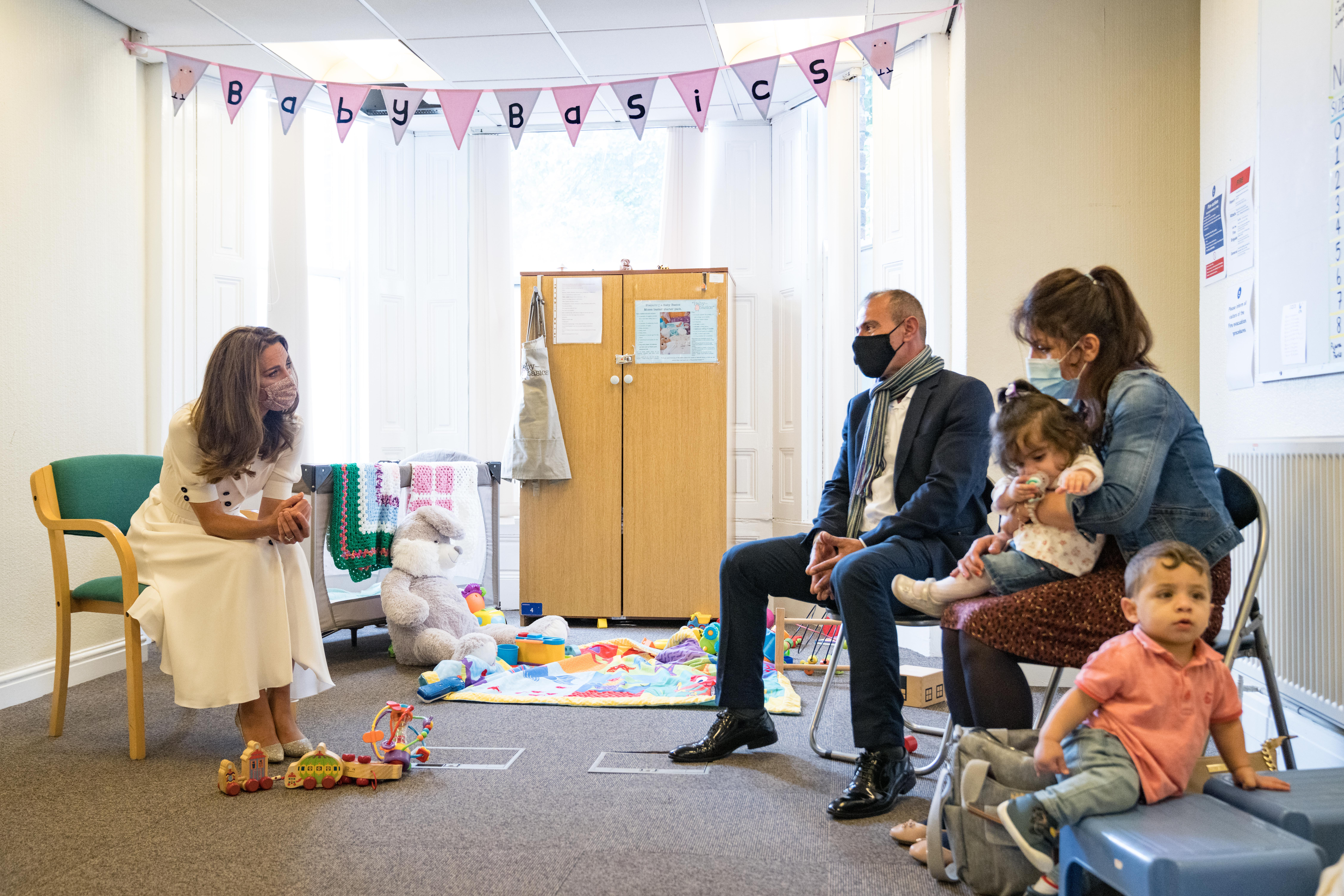 The Duchess of Cambridge talks to parents about how baby banks have provided them with invaluable support when they have needed it most.