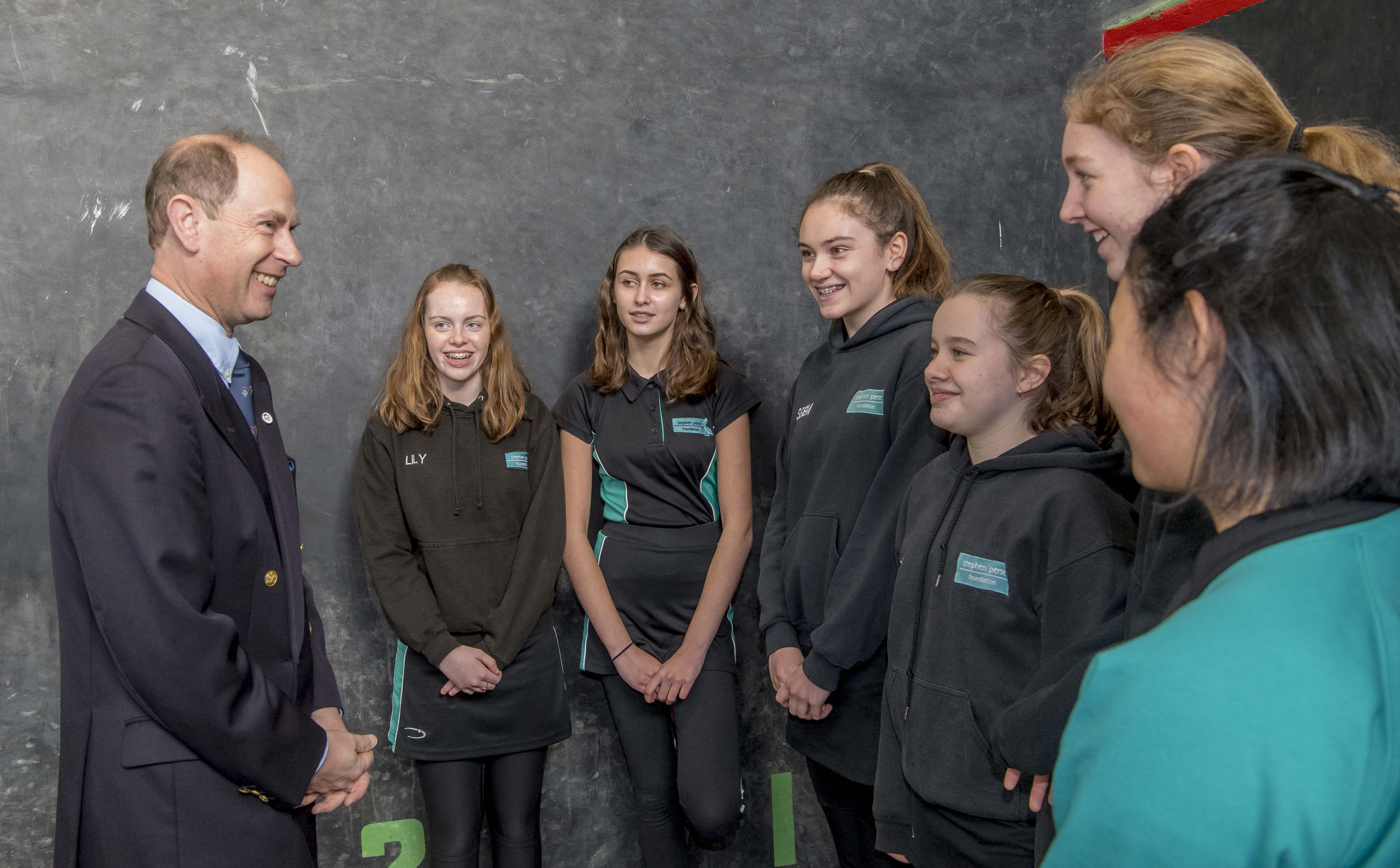 The Earl of Wessex meets DofE Award Participants