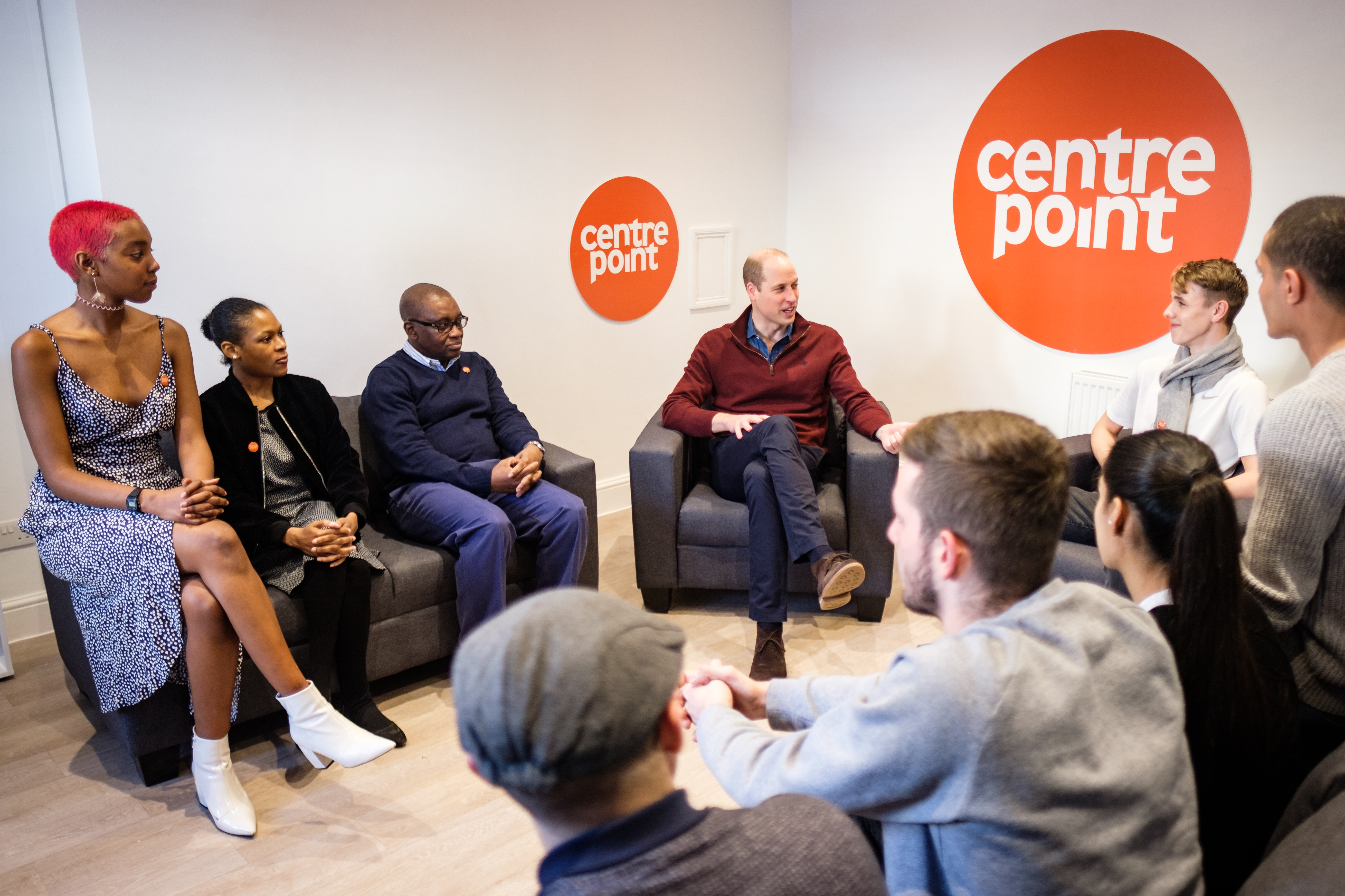 The Duke of Cambridge visits Centrepoint's new Apprenticeship House, as he marks 50 years of the homelessness charity.