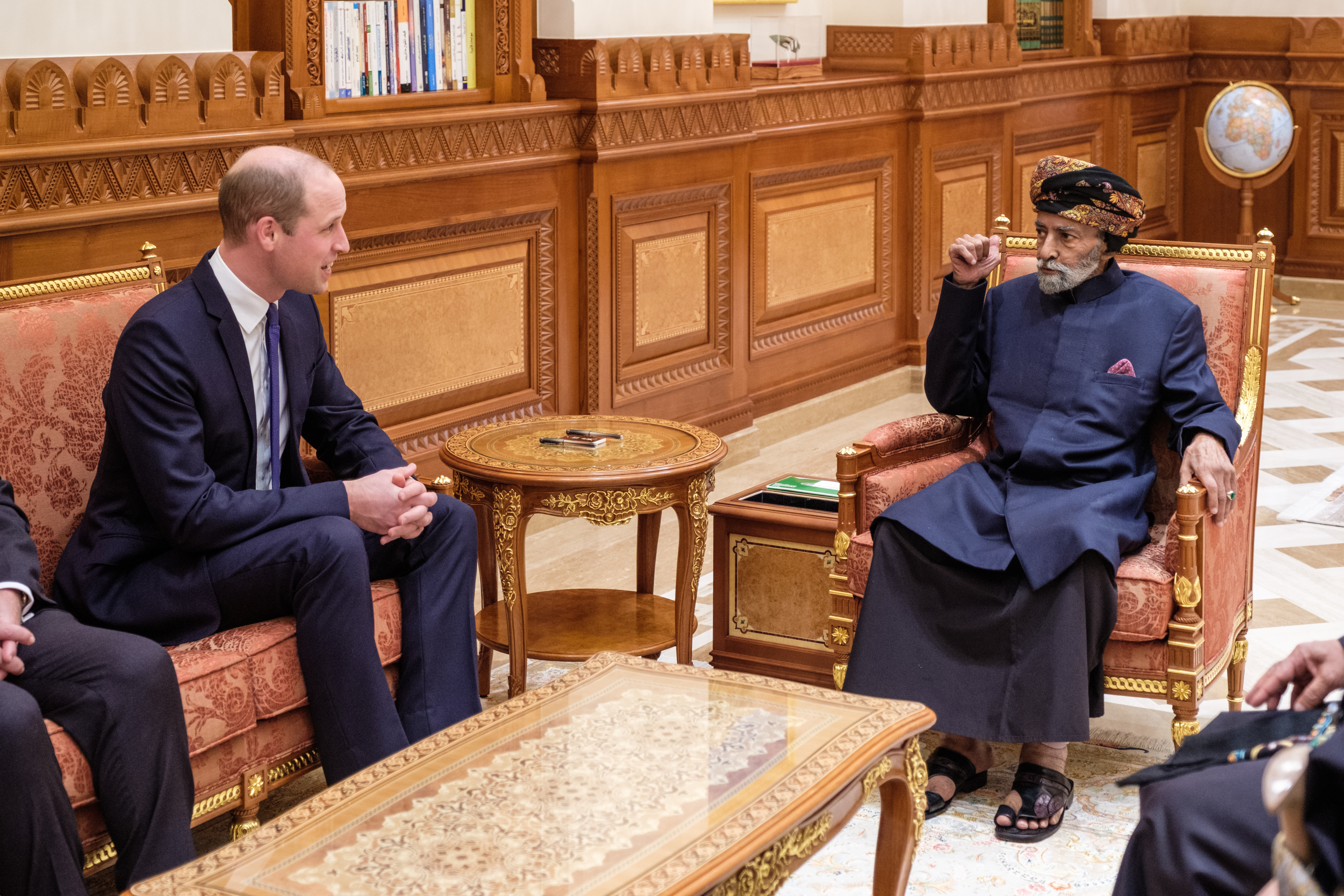 The Duke of Cambridge with His Majesty The Sultan of Oman.