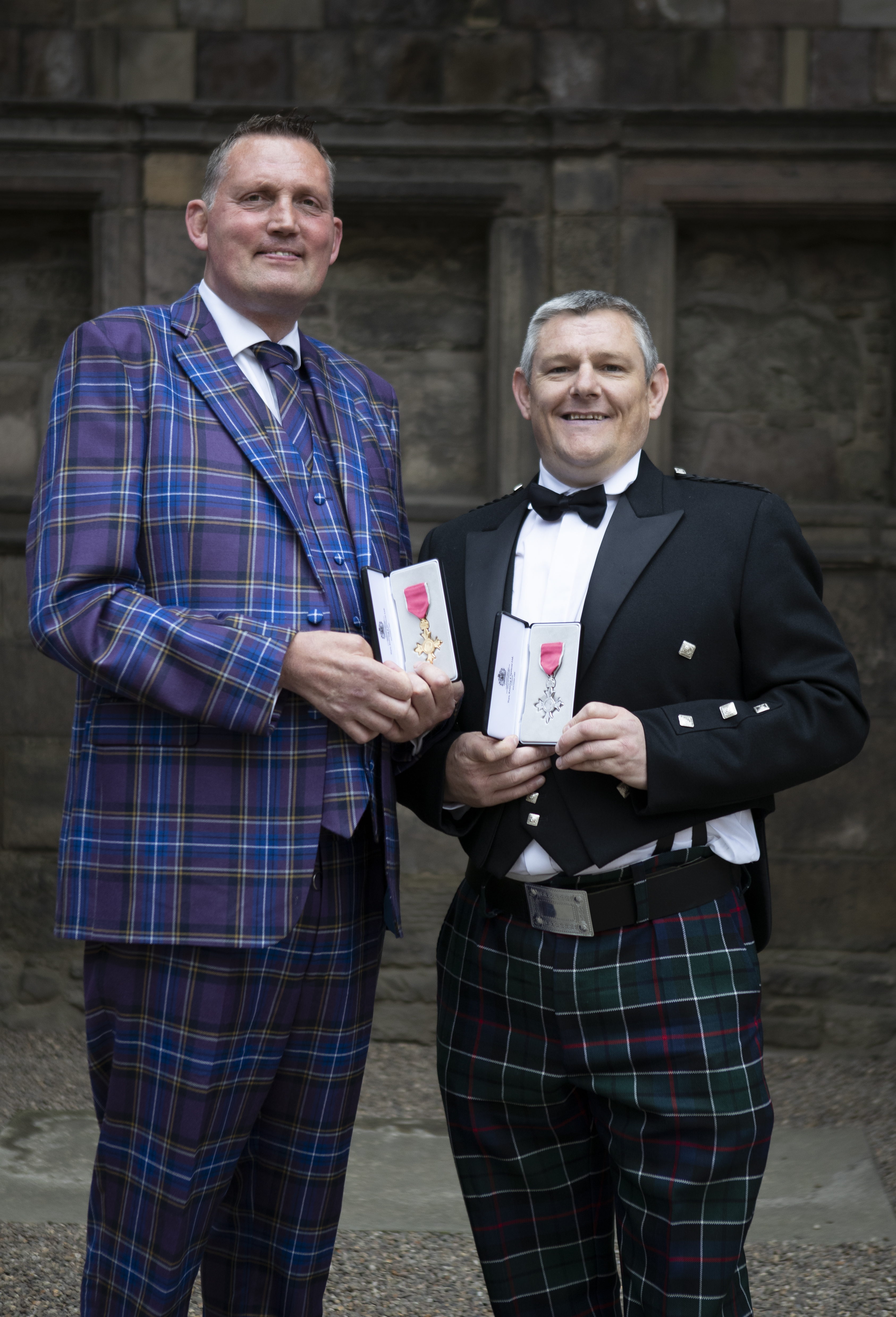 John Davidson and Doddie Weir Palace of Holyroodhouse Investiture