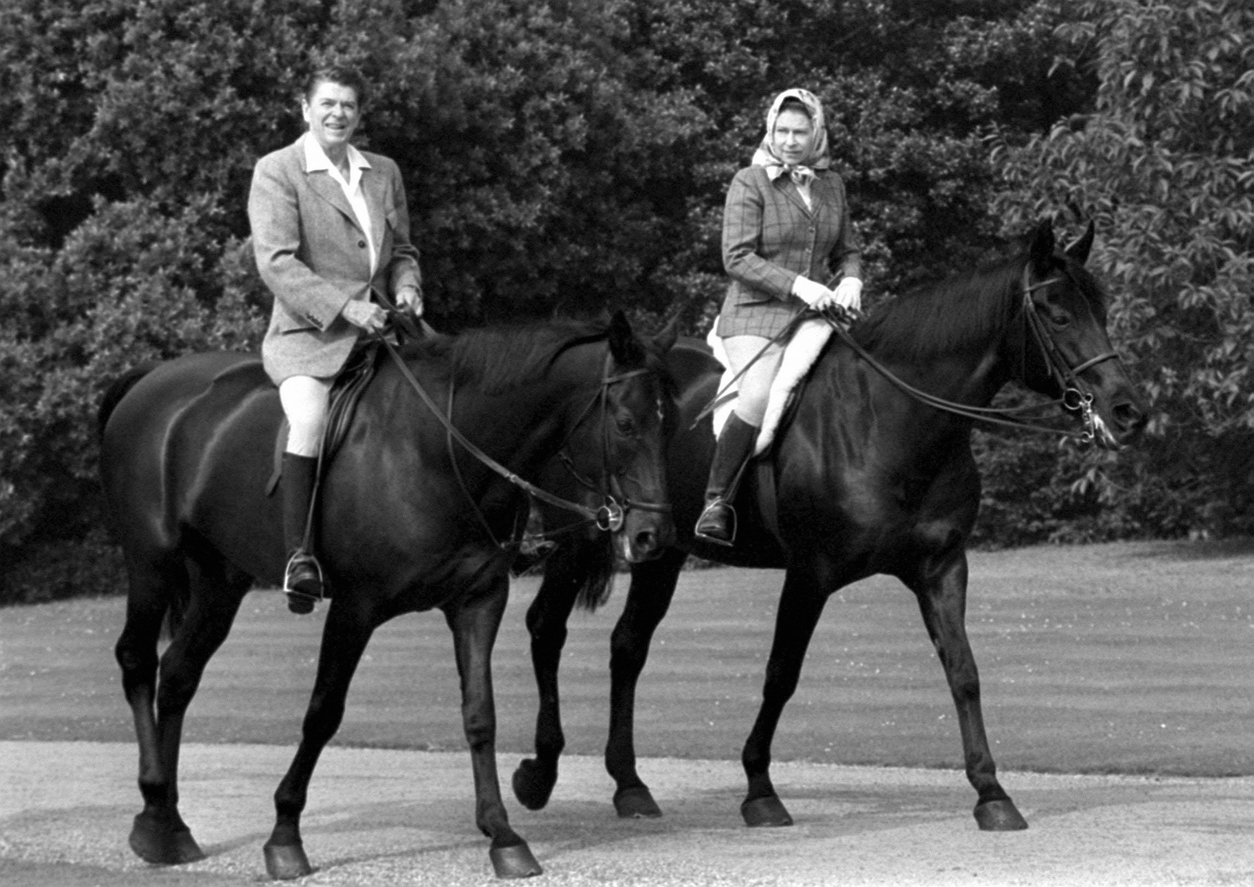 The Queen and Ronald Reagan
