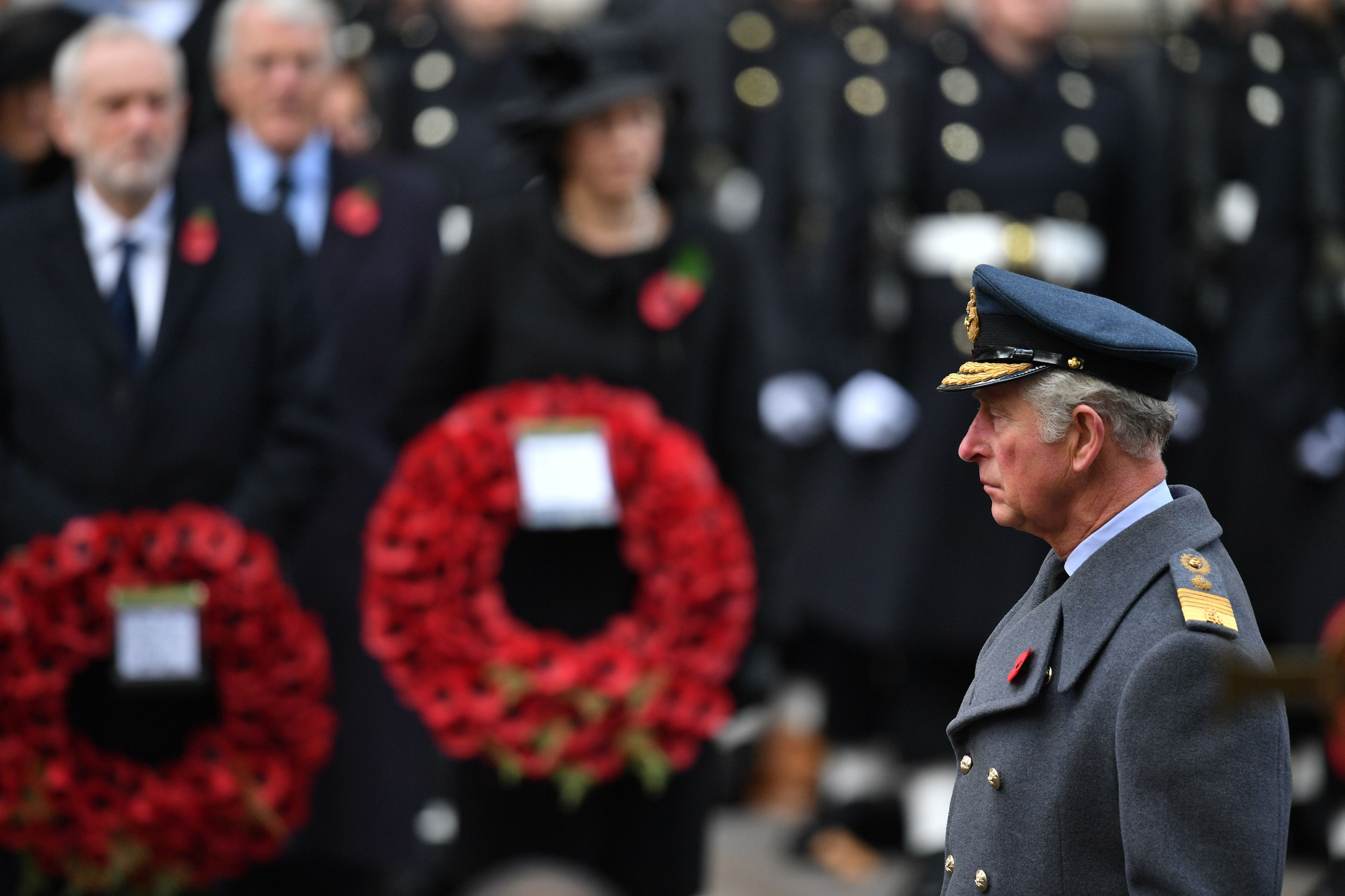 The Prince of Wales at the Cenotaph