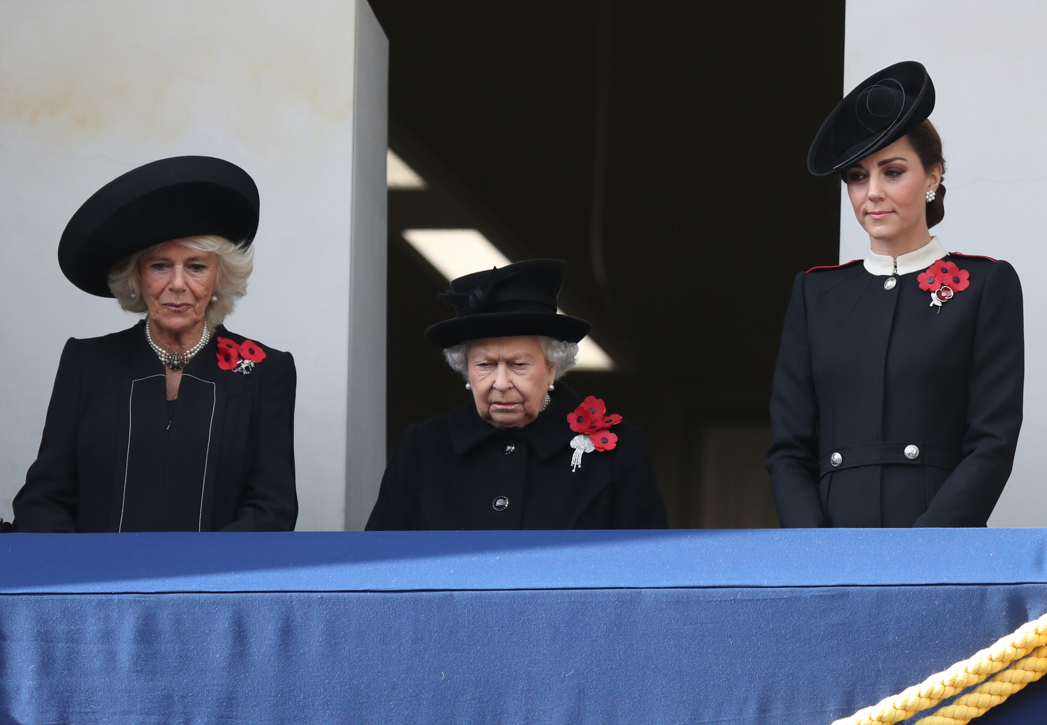 The Queen watches the Service of Remembrance