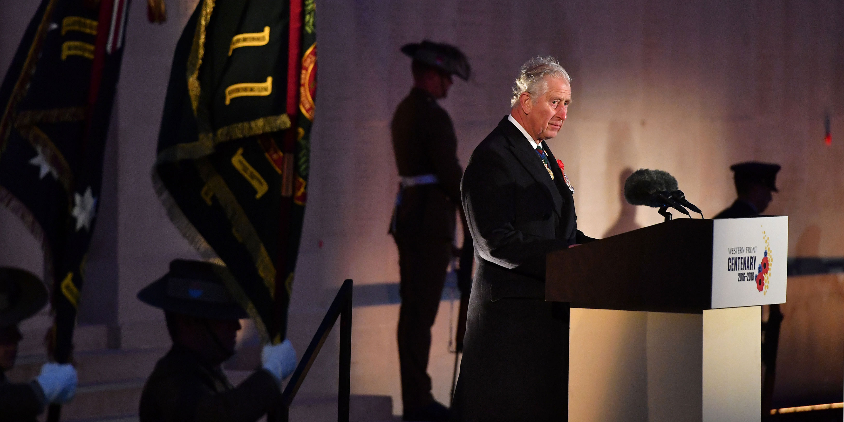 Prince of Wales attends Anzac Day 2018