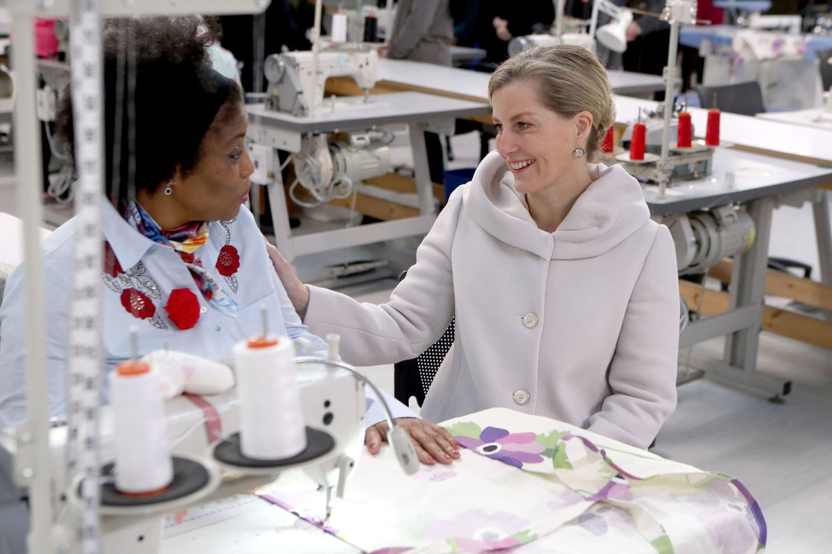 The Countess of Wessex visits HMP Downview Prison and Young Offenders Institution in 2014