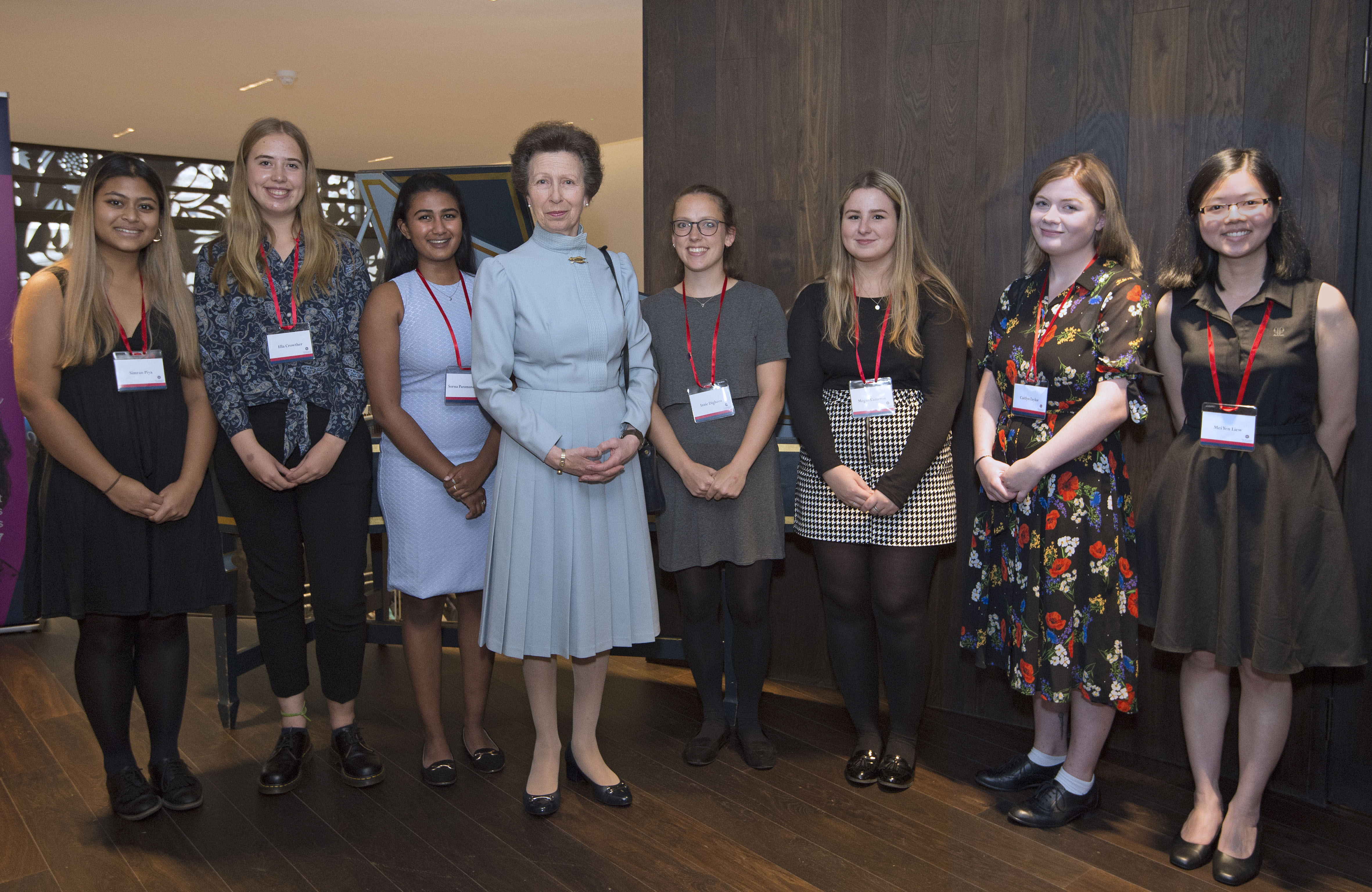 The Princess Royal meets Edinburgh Medical School students who collected the honorary posthumous degrees for the Edinburgh Seven