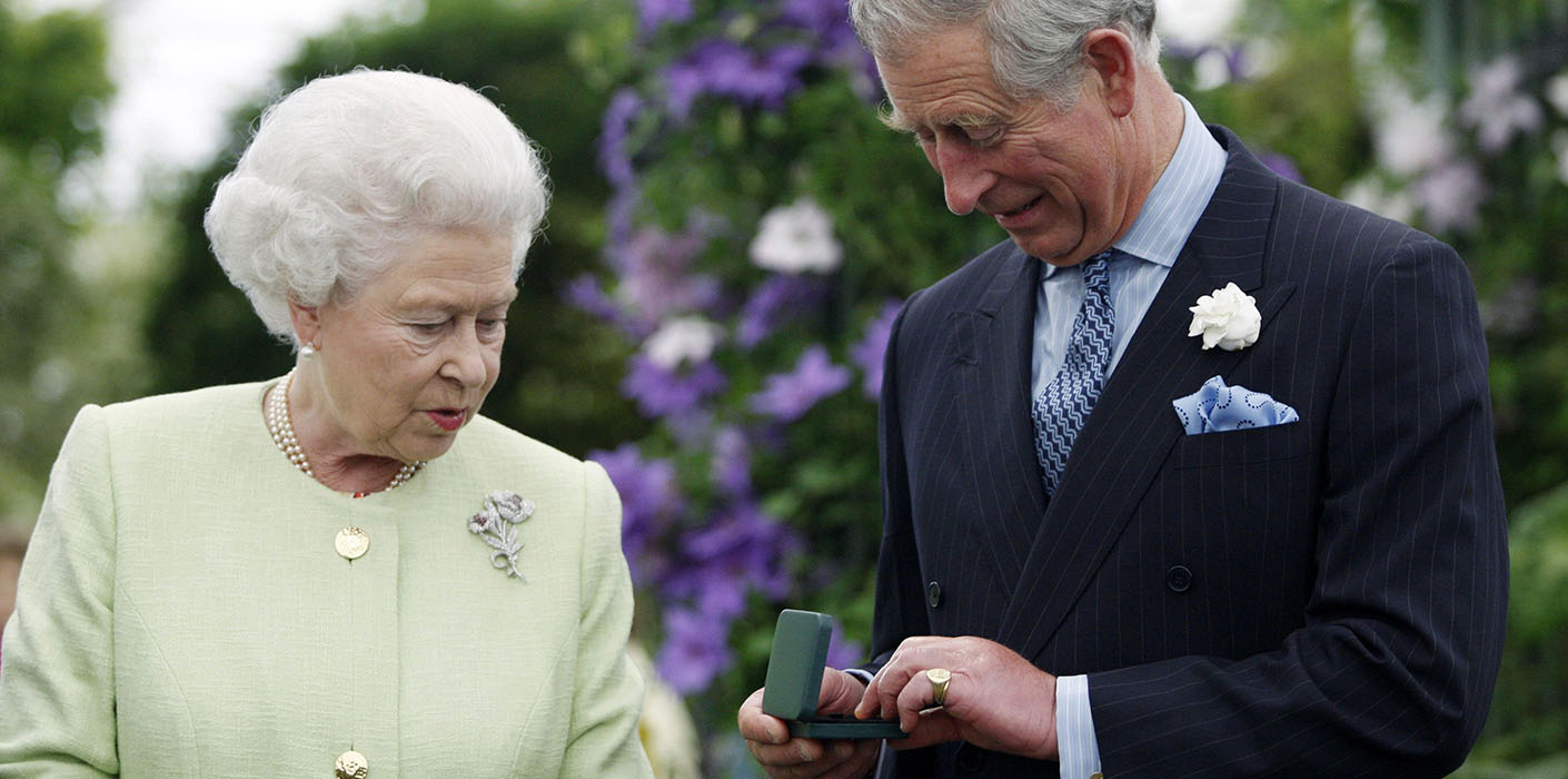 The Queen presents The Prince of Wales with the Victoria Medal of Honour