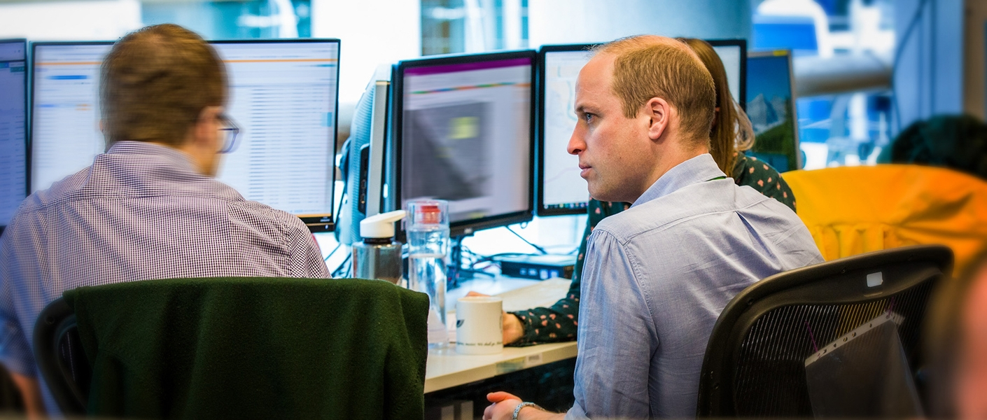 The Duke of Cambridge during his three week attachment with security and intelligence agencies