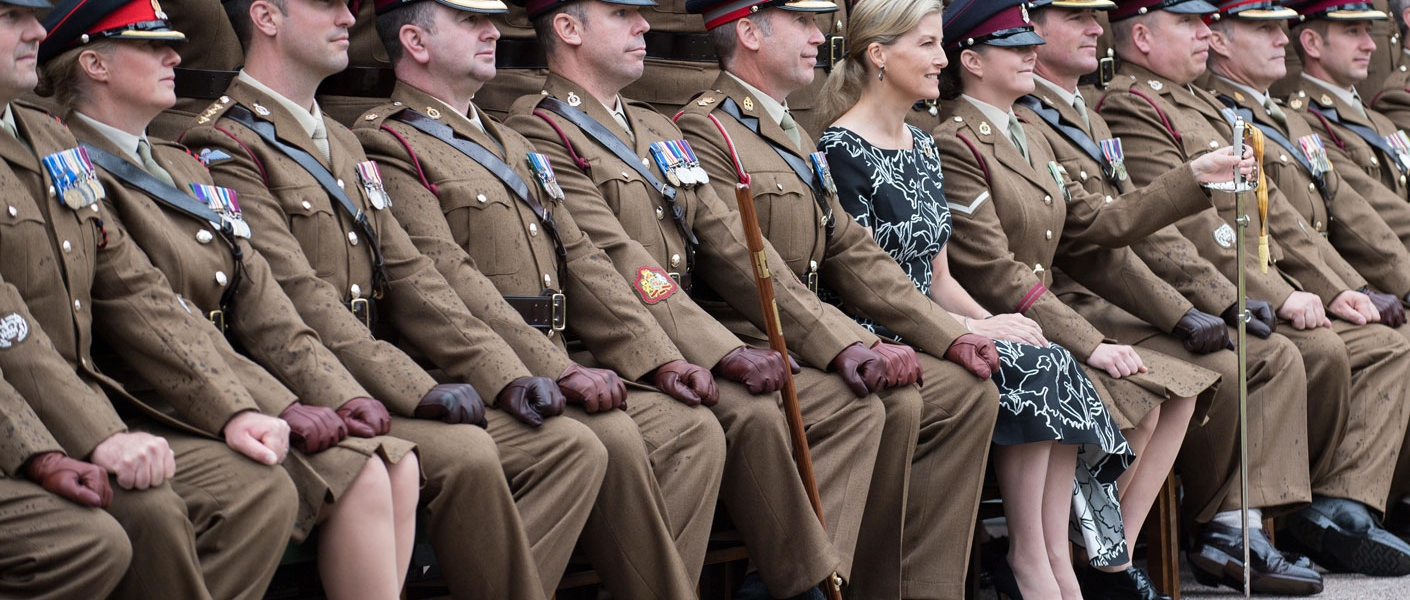 The Countess of Wessex presents The Firmin Sword of Peace to the 5 Armoured Medical Regiment