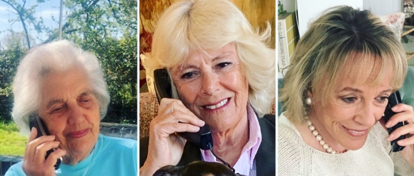 The Duchess of Cornwall takes part in a call with The Silver Line