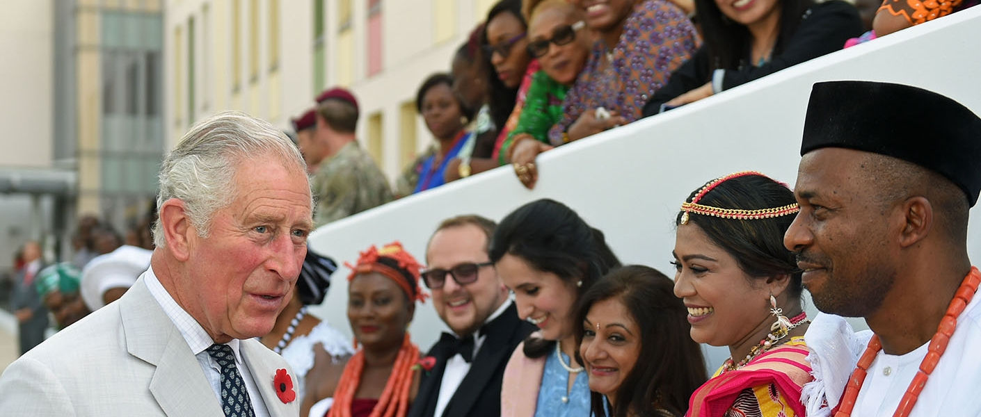 The Prince of Wales meets High Commission staff in Nigeria