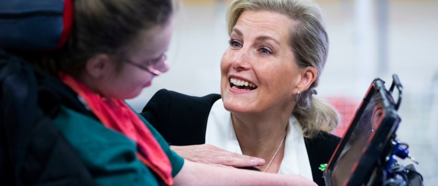 The Countess of Wessex visits Treloar School and College