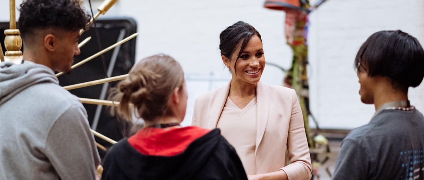 The Duchess of Sussex's first visit to the National Theatre as Patron