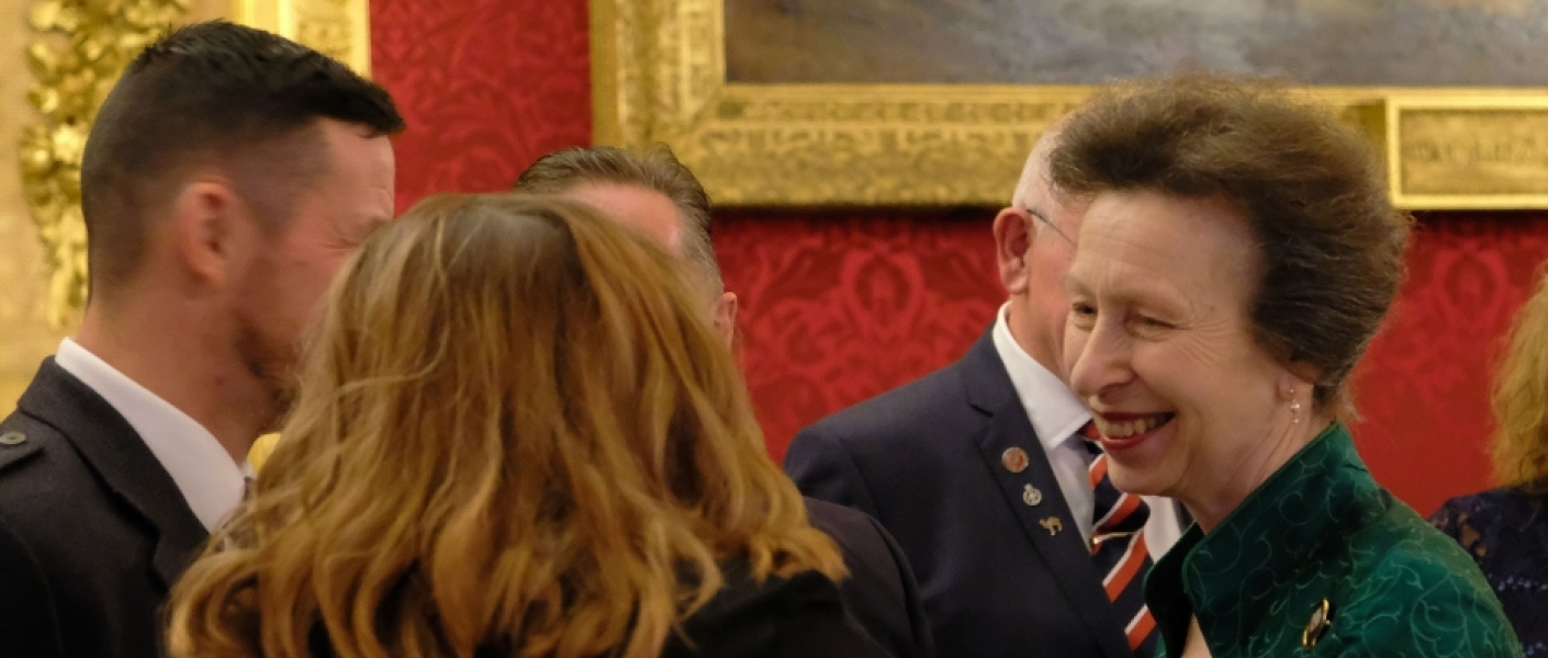 The Princess Royal hosts the annual Not Forgotten Christmas party for ex-servicemen and women