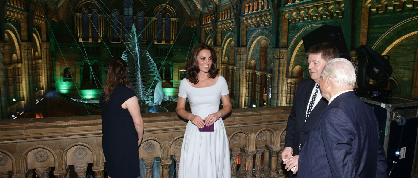 The Duchess of Cambridge opens the new Hintze Hall at The Natural History Museum