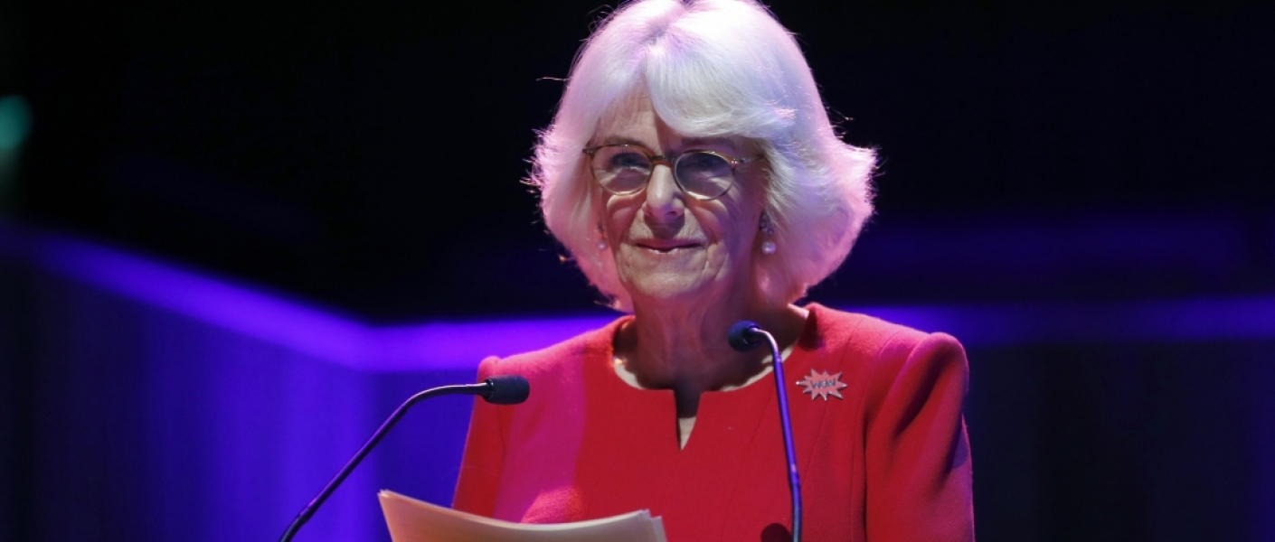 The Duchess of Cornwall delivers a speech on Domestic Violence at the WOW Festival 2020