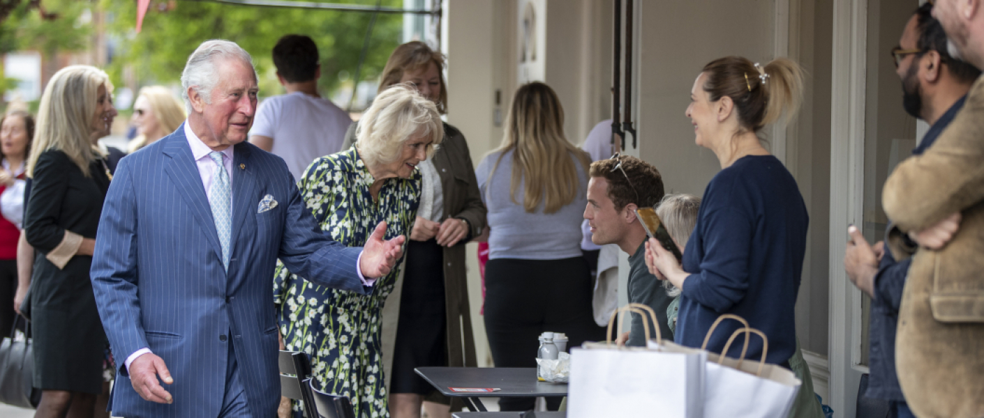 The Prince of Wales and The Duchess of Cornwall celebrate Clapham Old Town
