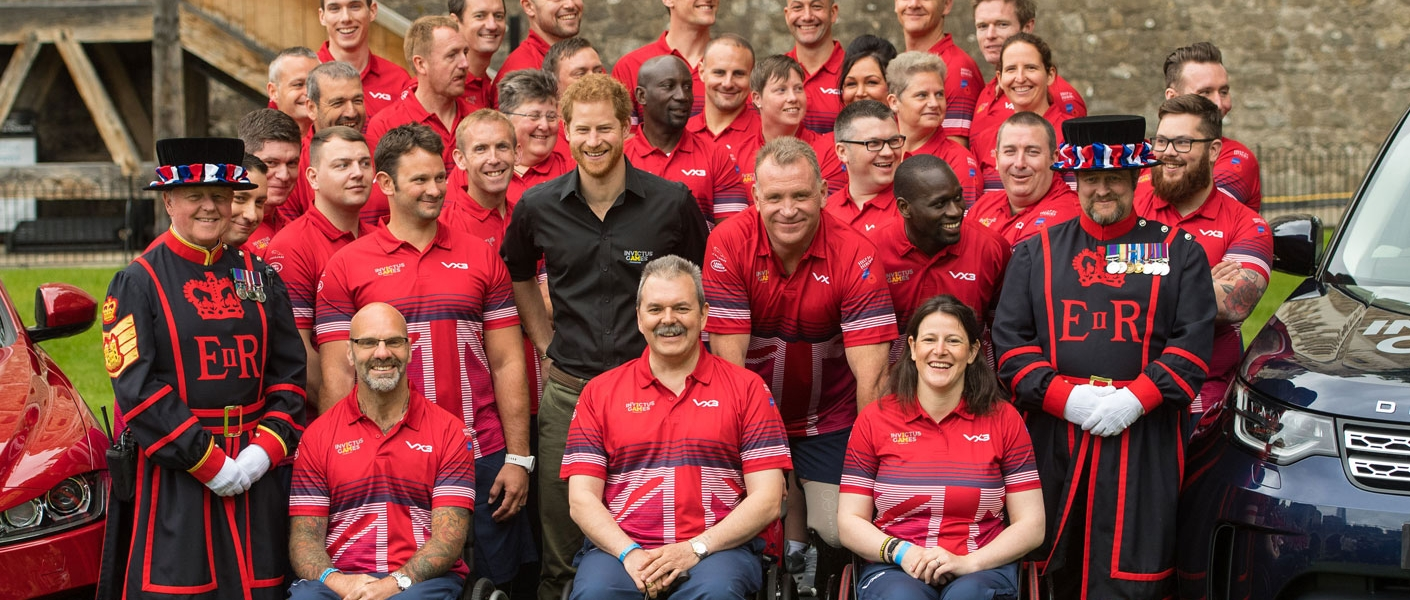Prince Harry meets the UK Team for The Invictus Games 2017 at The Tower of London