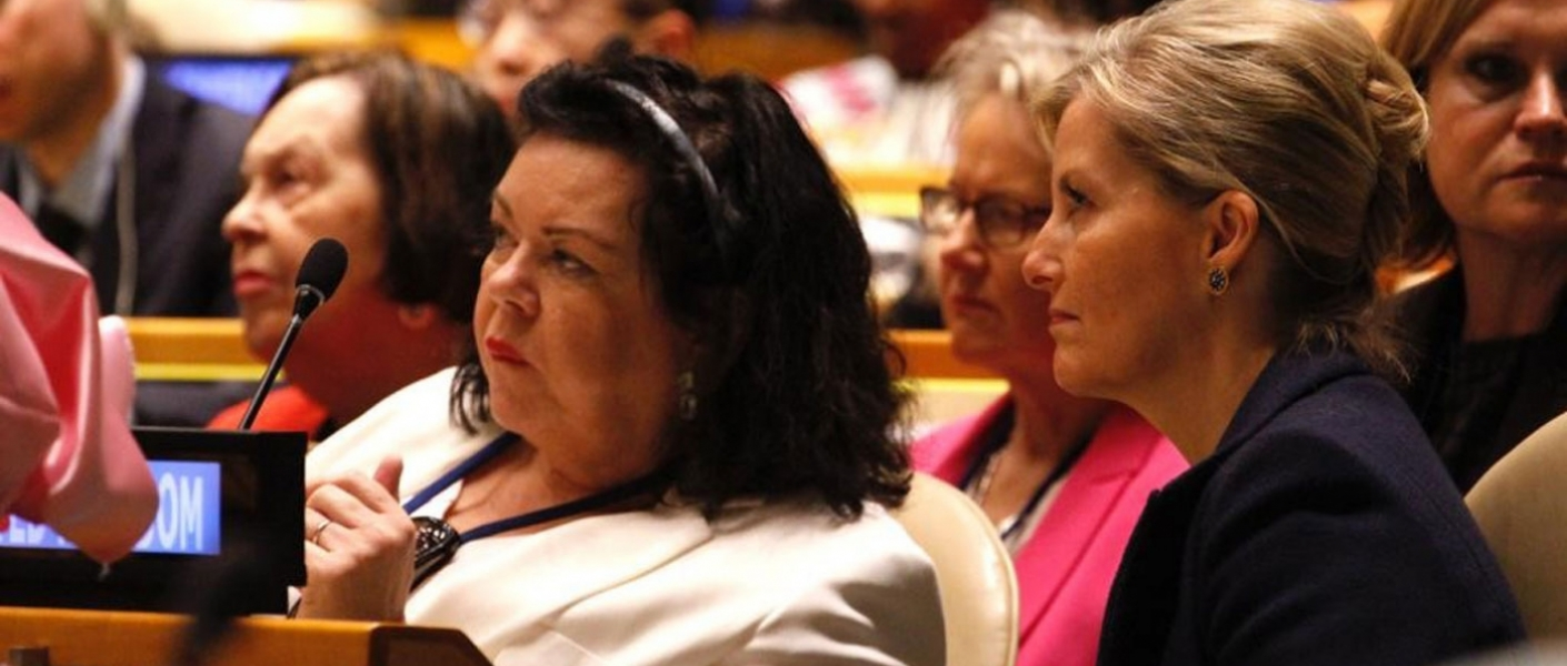 The Countess of Wessex attends the Commission on the Status of Women at the UN