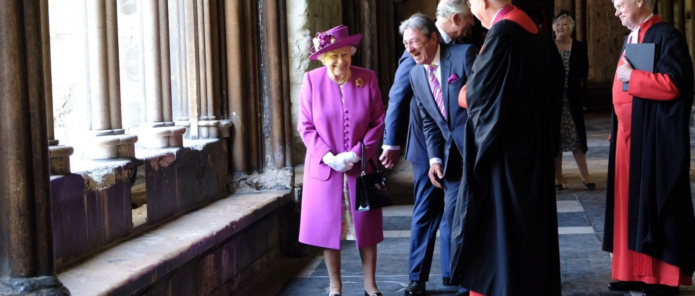 The Queen tours Westminster Abbey with The Prince of Wales