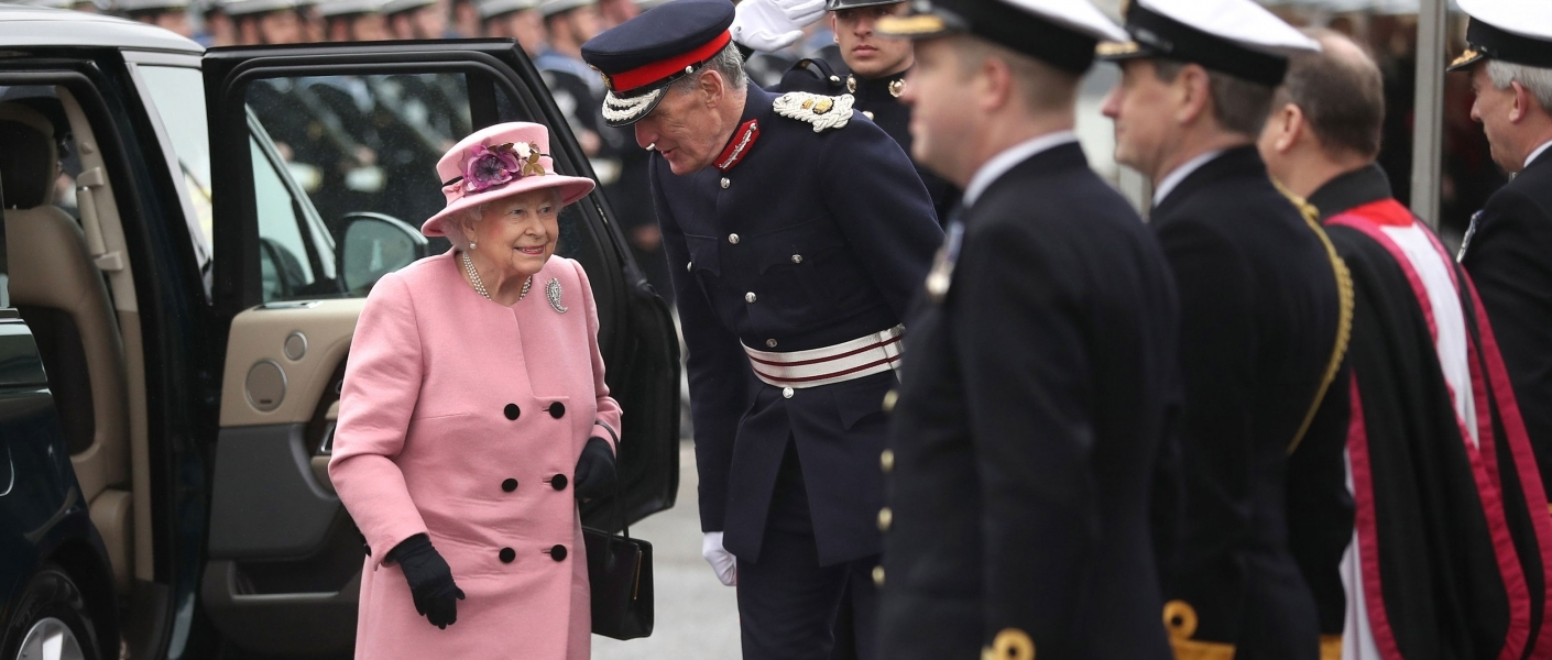 The queen attends the HMS Ocean decommissioning ceremony