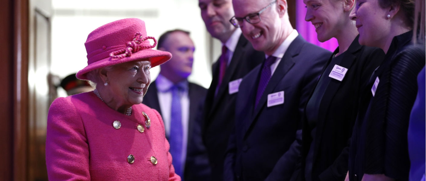 The Queen at The Royal Institution of Chartered Surveyors