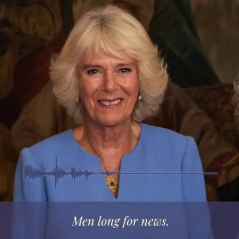 The Duchess recites 'Night Mail' for National Poetry Day
