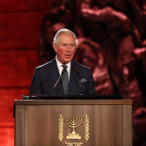 The Prince of Wales delivers a speech at the World Holocaust Forum